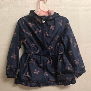 Girls OshKosh Butterfly Rain Jacket Size 3T